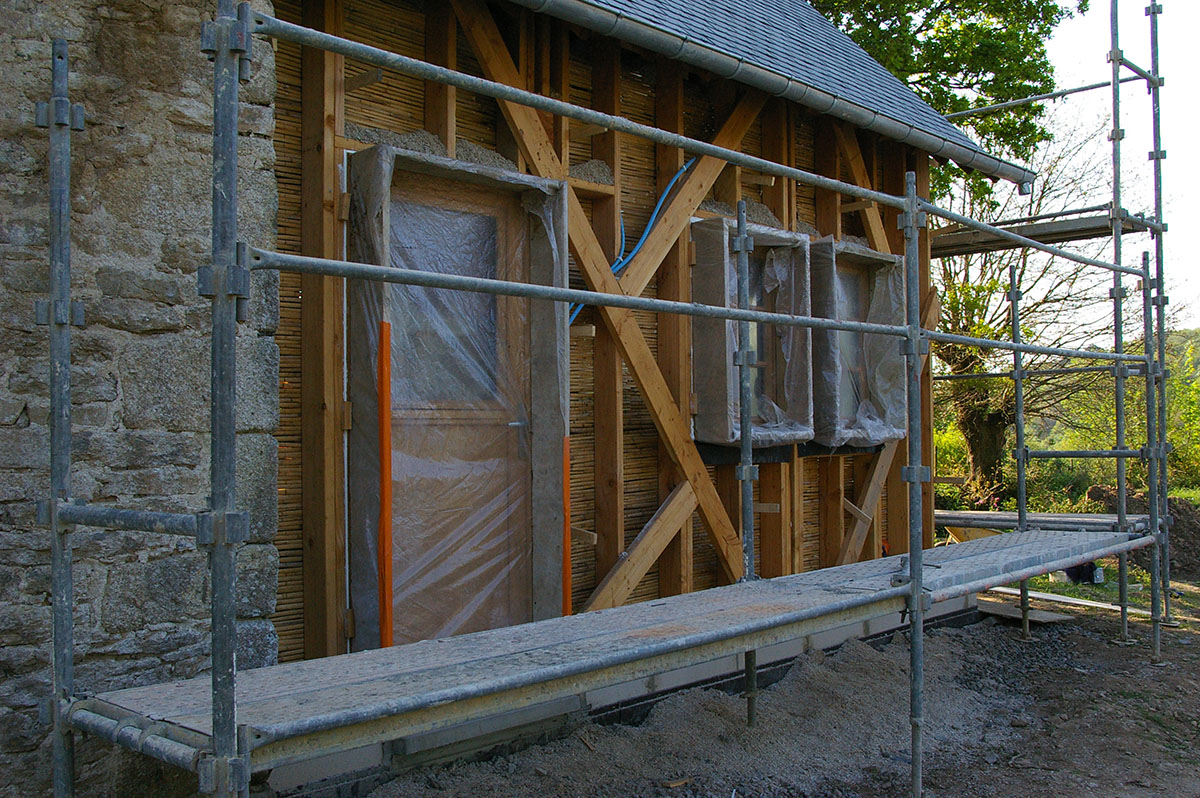 Isolation par l'extérieur - Maison traditionnelle en terre - Bassin Rennais (35)